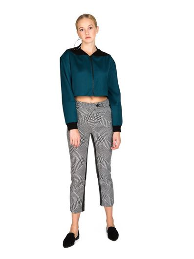 Picture of Faux Leather Detailed Trousers