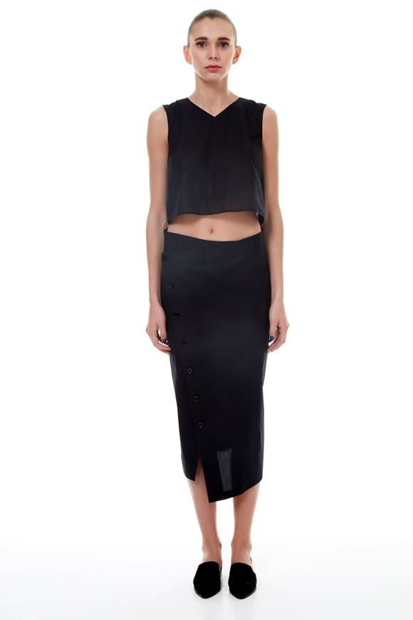 Picture of Voile Asymmetric Skirt