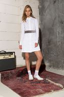 Picture of Velvet Belt Shirt Dress