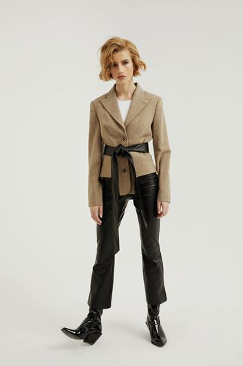 Picture of Sand Beige Cut Out Jacket